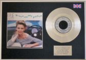 "KYLIE MINOGUE - 7""Silver Disc +cover-TEARS ON MY PILLOW"